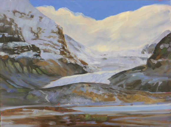 """Athabasca glacier,"" oil on canvas, available."