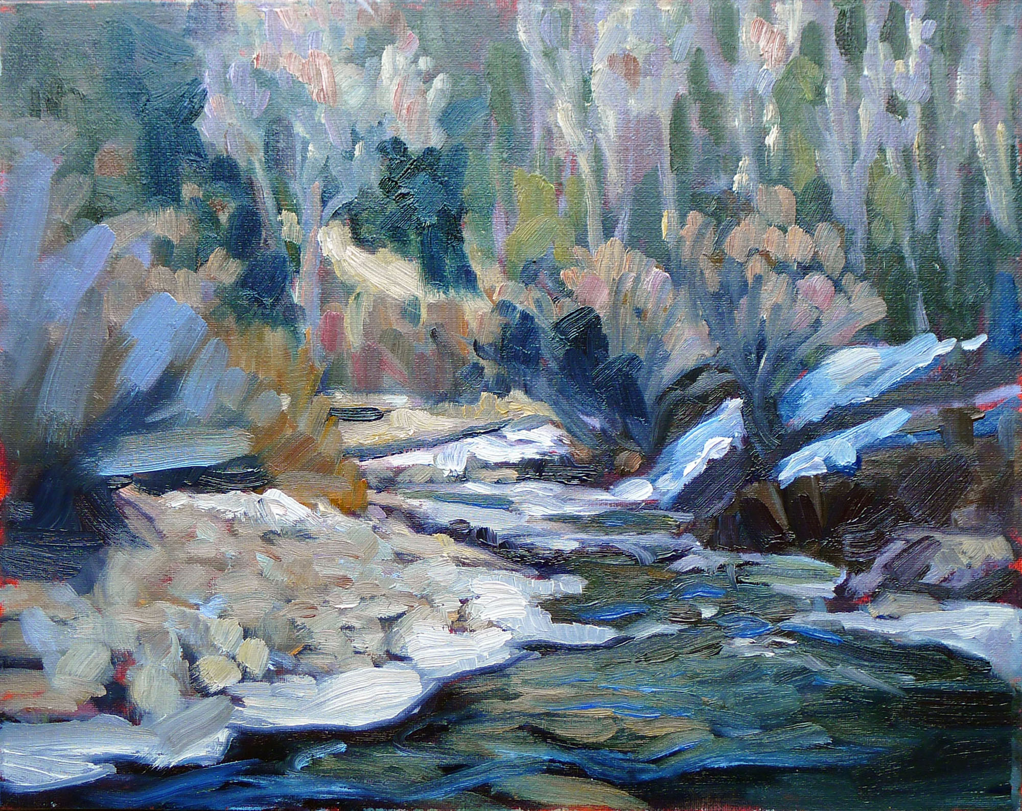 """Spring thaw on the Pecos River,"" Pecos, NM"