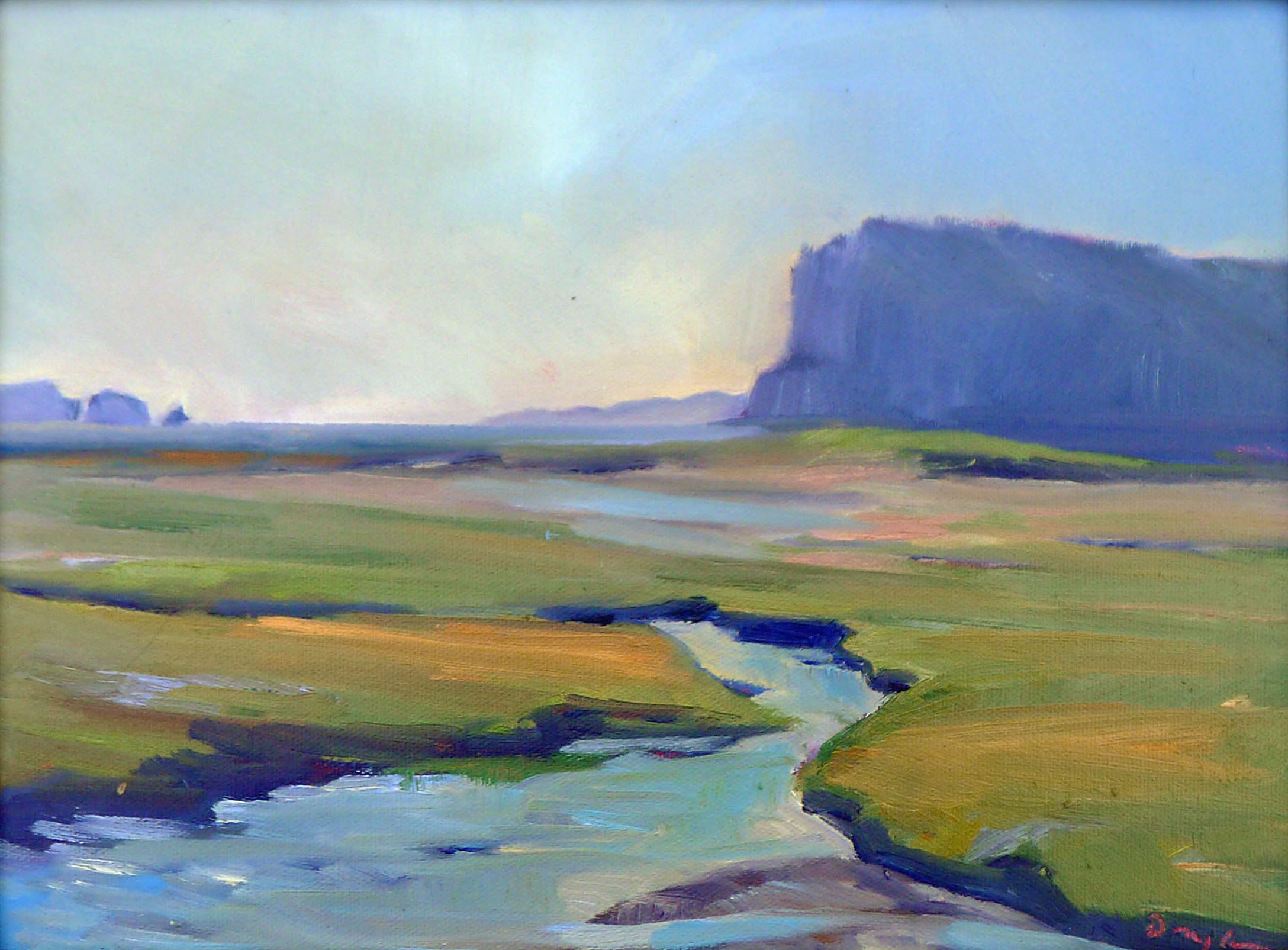 """Bay of Fundy Marshes,"" 12X16, oil on canvasboard, available."