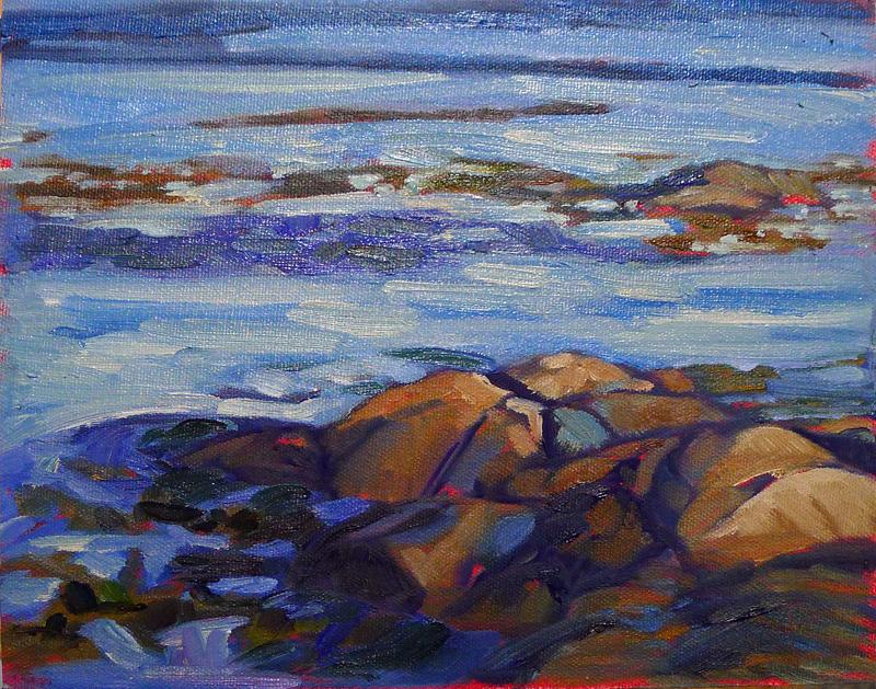 """""""Sunset near Clark Island,"""" oil on canvasboard, available."""